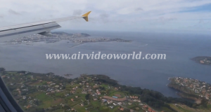 Landing at A Coruña airport 9
