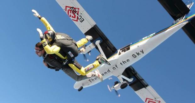 First tandem parachute jump with Skydive Empuriabrava 1