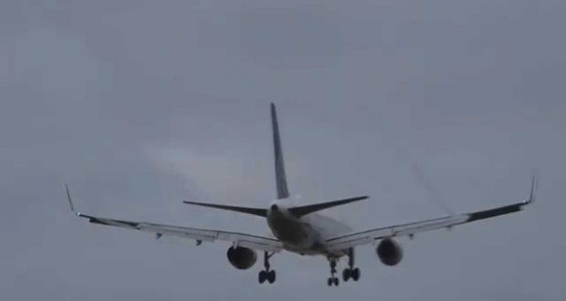 Boeing 757 United Airlines Great Wake Turbulence! 9